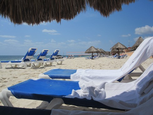 The beach at Moon Palace, Cancun, Mexico